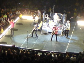 The Rolling Stones - performing on a smaller stage at the Rod Laver Arena, Melbourne.