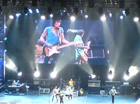 The Rolling Stones - Satisfying their Melbourne audience by playing many of their hits.