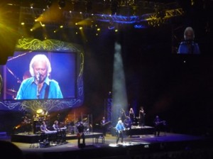 Barry Gibb in concert, Melbourne 2013. Photo by Steve Yanko.