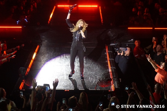 Madonna performing in Melbourne, Australia.