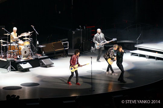 The Rolling Stones start their show in Melbourne.