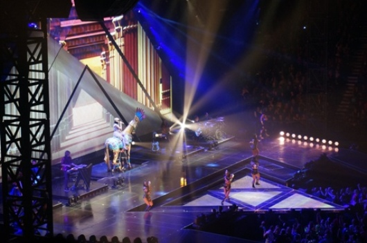 Katy Perry performing 'Dark Horse'. Photo by Steve Yanko.