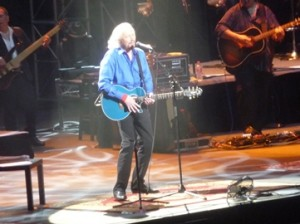 Barry Gibb performing in Melbourne, Australia. Photo by Steve Yanko.