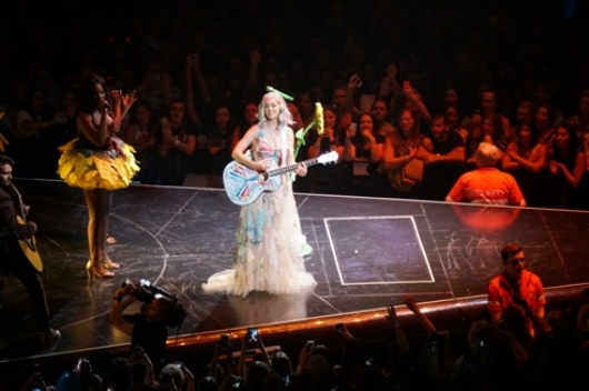 Katy Perry performing 'Thinking of You. Photo by Steve Yanko.