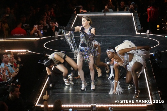 Madonna performed with great energy throughout her concert.