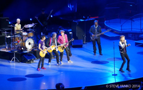 he Rolling Stones with Mick Taylor (middle guitarist) playing 'Midnight Rambler'.