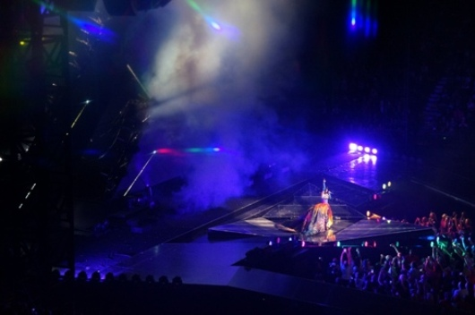 Katy Perry. Centre stage in Melbourne. Photo by Steve Yanko.