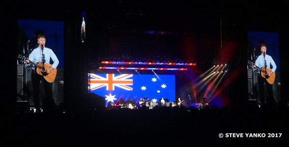 Paul McCartney performed 'Mull of Kintyre'.
