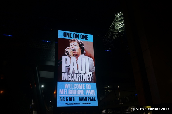 Paul McCartney is loved in Melbourne, Australia.