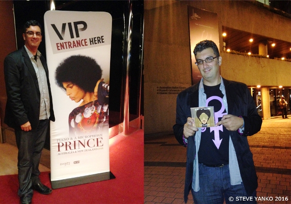 Steve Yanko before and after Prince's 4th and final show in Melbourne on the Piano & A Microphone Tour.