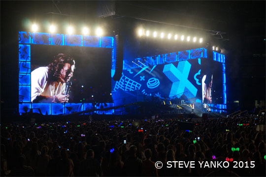 One Direction in Melbourne. Photo by Steve Yanko.